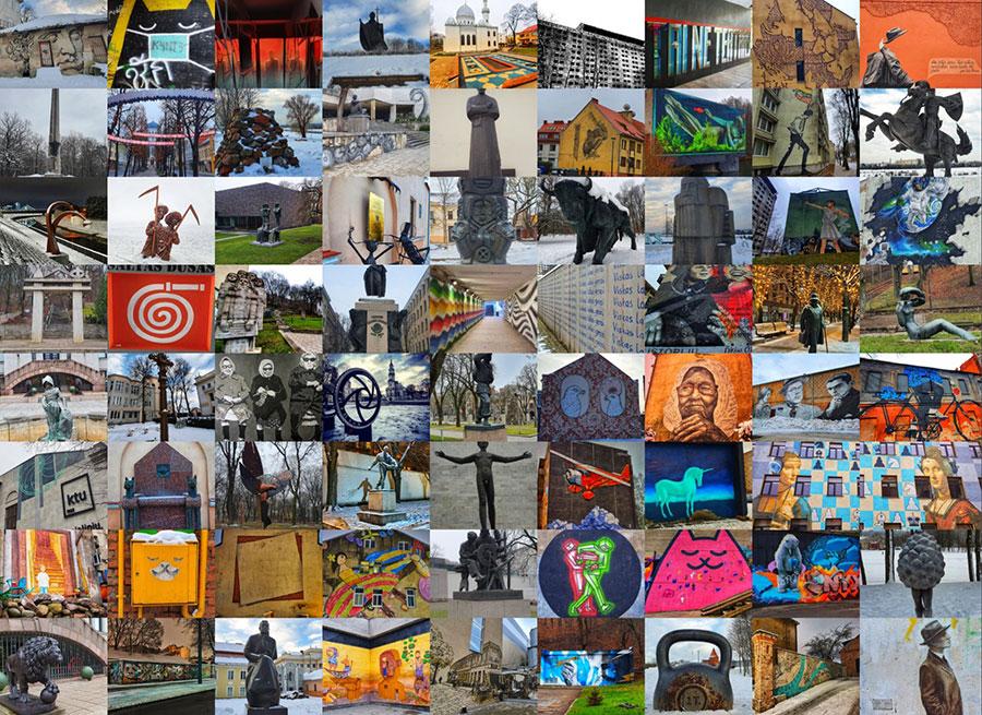 Kauno gatvės meno žemėlapis